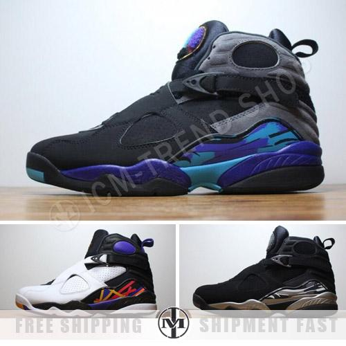 timeless design a4fa7 8b8d1 Air Retro 8 Basketball Shoes Aqua Black Chrome High Quality Sneakers 8s  Doernbecher Retro 8 Three Peat Sneaker Shoes 36 47 Designer Shoes Sneakers  For ...
