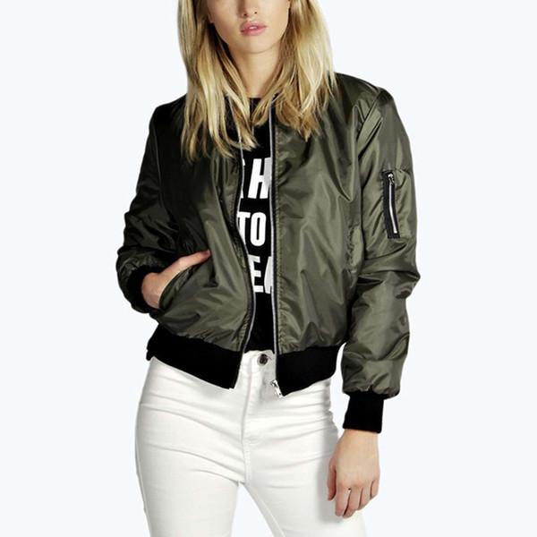 Senza Fretta Womens Ladies Vintage Zip Up Classic Padded Jacket Biker Coat Stylish New NS540