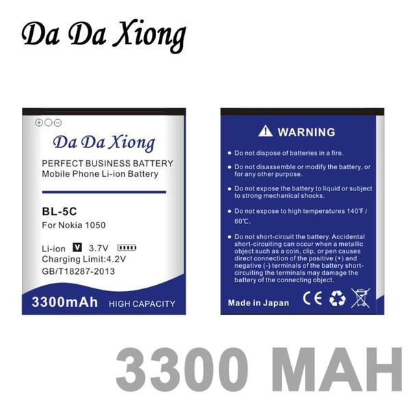 top popular Da Da Xiong 3300mAh BL-5C Li-ion Phone Battery for Nokia C2-06 C2-00 X2-01 1100 6600 6230 5130 2310 3100 6030 3120 3650 6263 2019