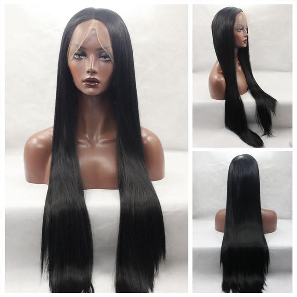 Pelucas de pelo humano del frente del cordón recto de la densidad del 250% para las mujeres negras pre desplumadas con la peluca de pelo del Remy brasileño del pelo del bebé