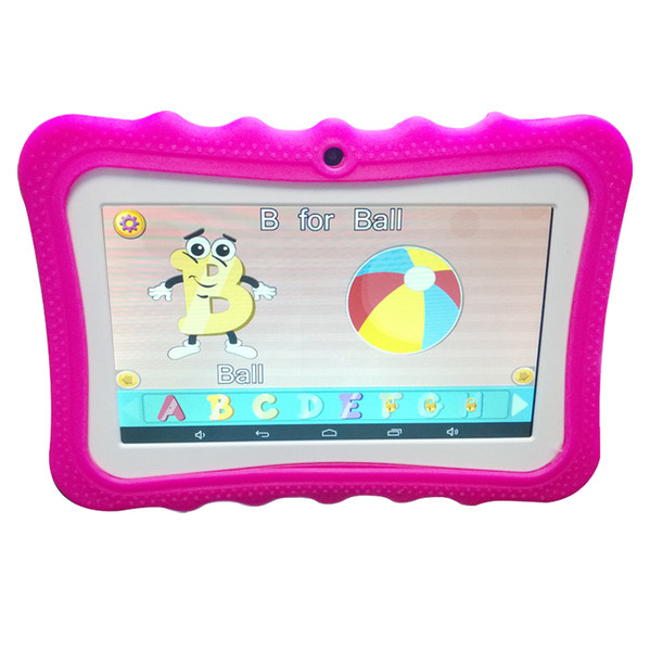 NEW Cheap 7 inch Children's tablet Quad Core Allwinner A33 Android 4.4 KitKat Capacitive 1.5GHz 512MB 8GB Dual Camera DHL free shipping