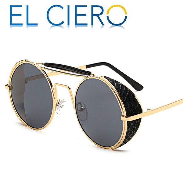 EL CIERO High Quality Ultra Light Metal Wrap Sunglasses For Men & Women 2019 Round Sun Glasses Unisex Fashion Shades UV400 Protection