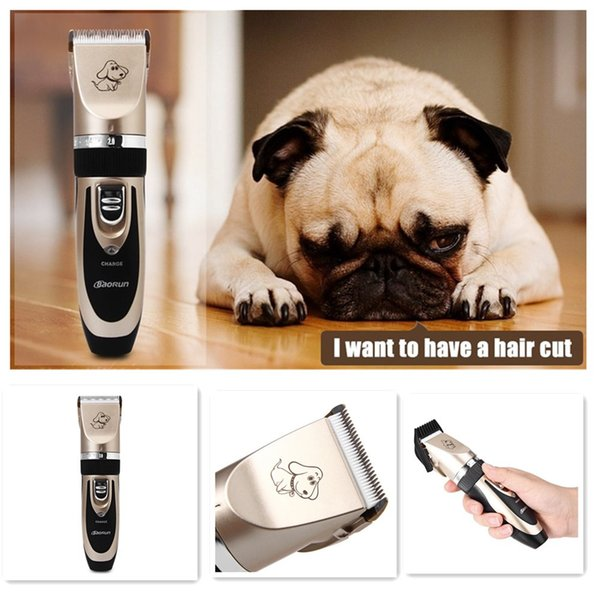 Excellent Cutting Experience Professional Rechargeable Cordless Pet Hair Clipper with Grooming Kit for Dogs Cats House Animals