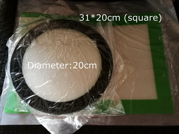 Silicone wax pads dry herb mats large 20cm round or 31*20cm square baking mat dabber sheets jars dab tool for silicon container vaporizer