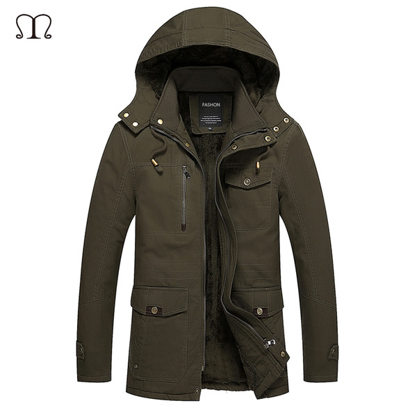 Wholesale- Winter Jacket Men 2016 New Men's Cotton Blend Mens Jean Jacket and Coats Casual Thick Outwear Plus Clothing Male 4XL Hoodies