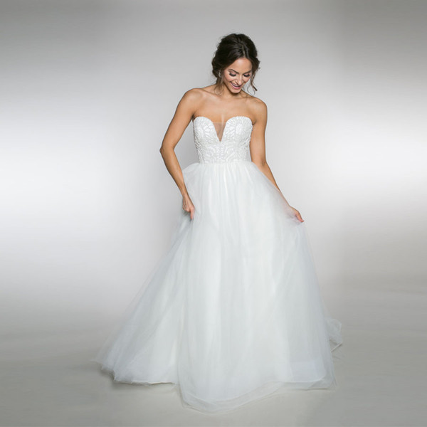 Sweetheart Tulle a-Line Wedding Dress Has 6 Layers Of Soft Netting With a Full Beaded Pearl Bodice Bridal Dress