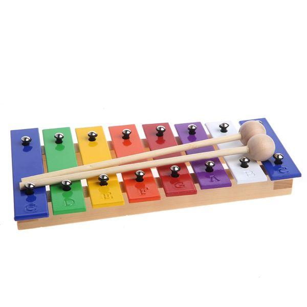 8 Notes En Bois Enfants Kid Xylophone Glockenspiel Musical Instrument Musique Jouet Nouveau