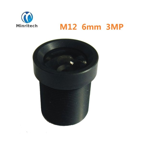 HD 3MP cctv lens 6MM M12 mount lens for IP video surveillance camera wide angle cctv lenses