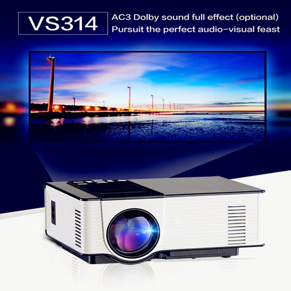 Wholesale-Free Shipping Mini Portable Projector 1500 Lumen 800 x 480 Full HD LED Video Home Cinema Support 1080P Red-Blue 3D VS UC46 GM60