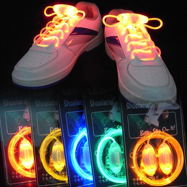 Bunte LED Blitzlicht Schnürsenkel Party Disco Schuhe Strap Glow Stick Schnürsenkel Jungen Mädchen Multicolor Schuh Strings