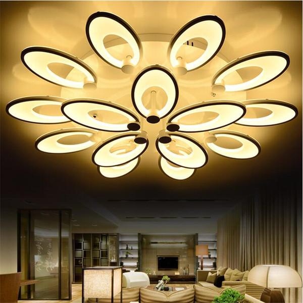 Moderne Bltenbltter Led Deckenleuchten Startseite Wohnzimmer Schlafzimmer Beleuchtungskrper Acryl LED Deckenleuchte Blume Blhende