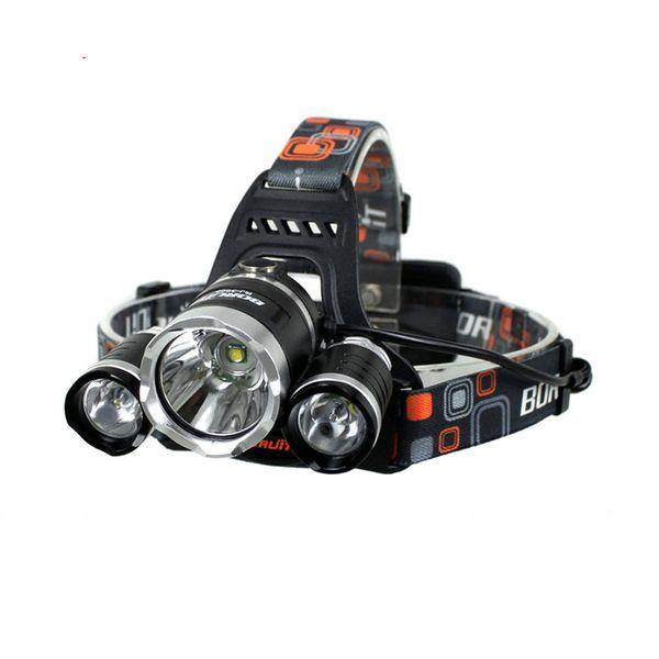 5000 Lumen T6+2R5 Boruit Head Light Headlamp Outdoor Light Head Lamp HeadLight Rechargeable by 2x 18650 Battery Fishing Camping