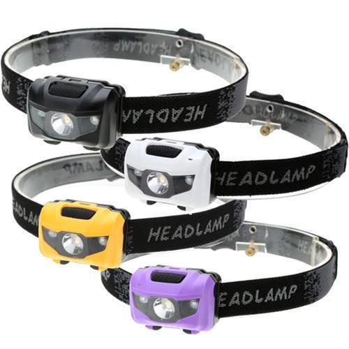 Al por mayor-4pcs / lot luz de la bicicleta al aire libre deporte lámpara 3W faros LED faro ligero pesca al aire libre lámpara de camping 4 modos