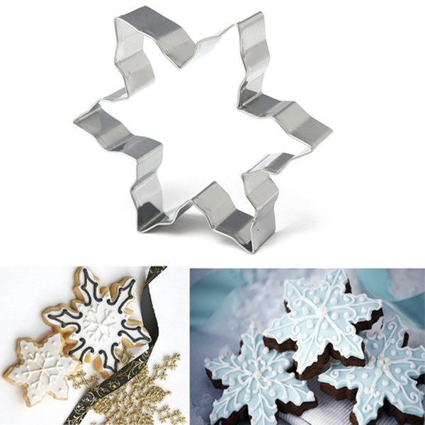 New Stainless Steel Star Snowflake Biscuit Cutter Cookie Fondant Cake Mould Icing Mold DIY Baking Tool