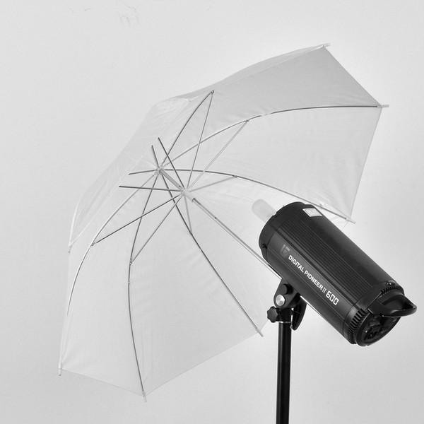 "Wholesale- 33"" 83cm Photo Studio Video Soft Umbrella Photography Translucent White Flash Light Diffuser Umbrella Camera Accessories"