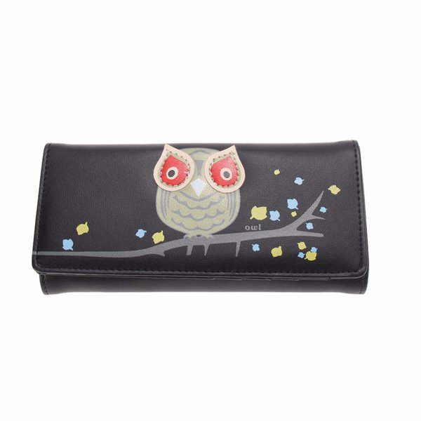 Wholesale- New Fashion Envelope Women Wallet Cute Cartoon Printing PU Leather Wallet Long Ladies Clutch Coin Purse Card Holder Pockets