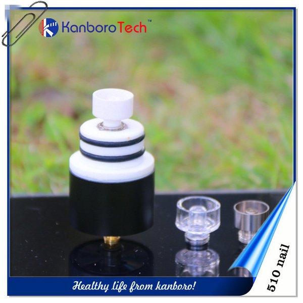 510Nail Atomizer Box Mod for Ceramic Titanium Nail Dome Glass Round Drip Tip Wax Vape Vaporizer E-cigarette on new listing.