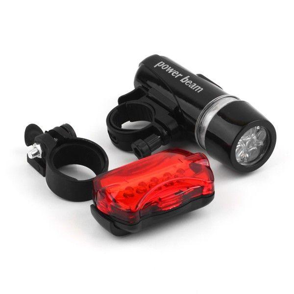 WJ-101 Wasserdichte Fahrradbeleuchtung 5 LEDs Fahrrad Frontscheinwerfer Sicherheit Rücklicht Taschenlampe Lampe Schwarz bike zubehör