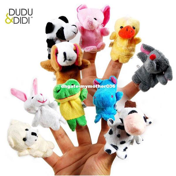 10 pcs/lot, Baby Plush Toy/ Finger Puppets/Tell Story Props(10 animal group) Animal Doll /Kids Toys /Children Gift WJ208