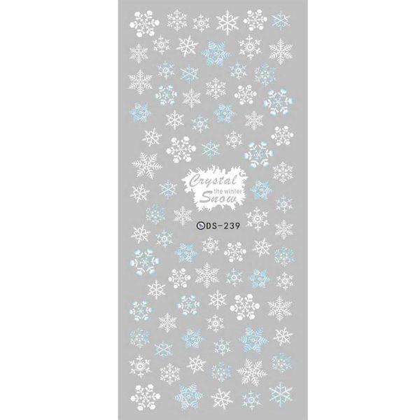 2017 DIY дизайнер зима воды передачи ногтей наклейки Белый Снежинка harajuku ногтей обертывания фольги наклейки маникюр наклейки
