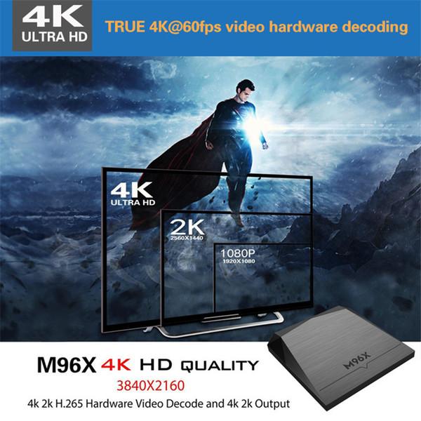 M96X set-top box Amlogic S905X 2G+8G Andrews 6.016.1 4K ultra-clear Set Top Box Media player 2.0 HD WIFI 0804018