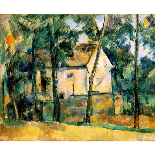 Abstract Landscapes paintings Paul Cezanne House and Trees hand-painted Canvas art high quality