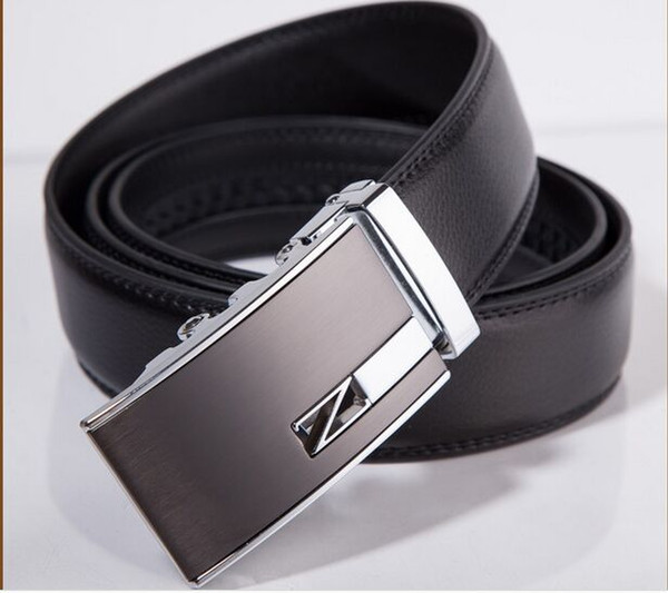 best selling 2017 New Fashion leather waist belt Mixed style Automatic buckle belt strap genuine leather belt for men high quality free shipping