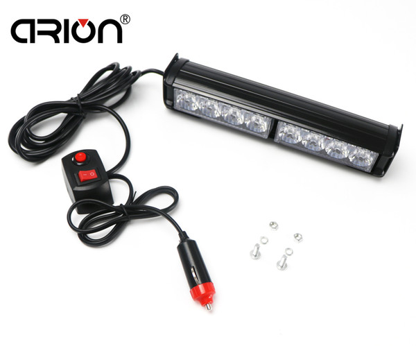 car styling 8 Led Blue Red Emergency LED Light Police Strobe Lamp Flashing Warning Windshield Mount Boat Truck Car lightbar