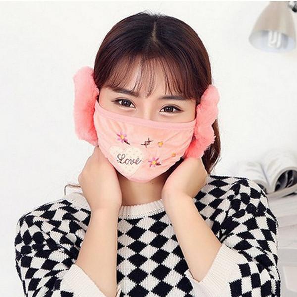 Sonbahar ve kış erkek ve kadın kulak ağız kulak kalın sıcak nefes rüzgar geçirmez maske maskesi Kore sürme