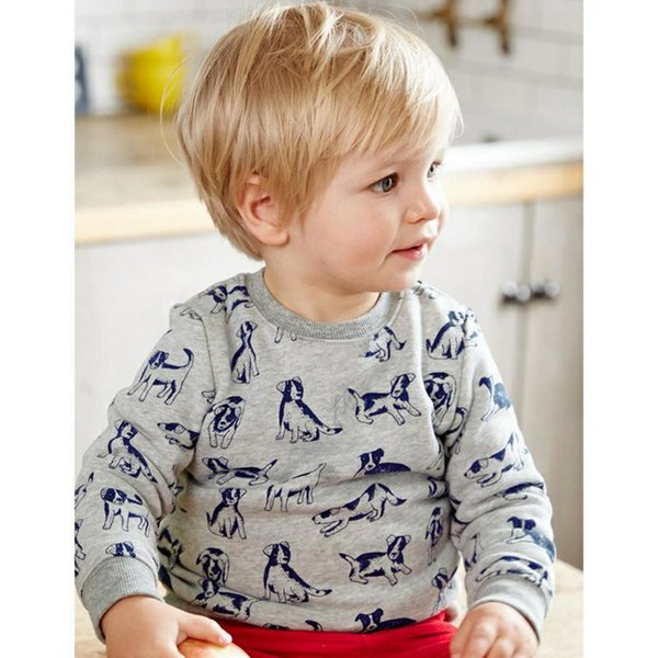 2017 Kids Clothing Boys Girls Fashion T shirt Cotton Long Sleeve Tees Tops Car Dinosaur Fox flower Deer Toddler Baby Girl Clothes