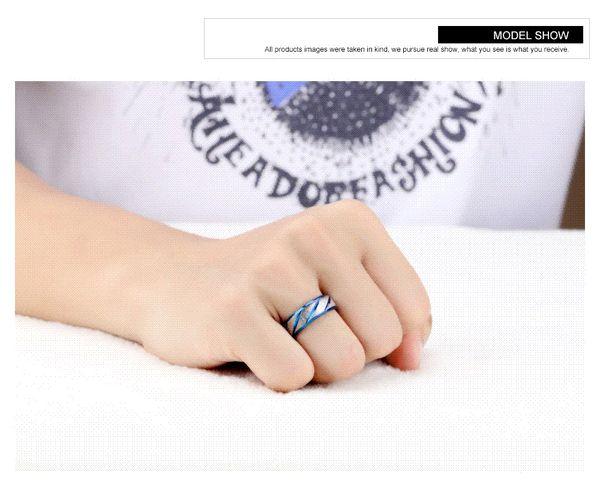 316L Stainless Steel Superman Finger Rings blue Men's titanium steel blueornaments gj196 wholesale ring torch