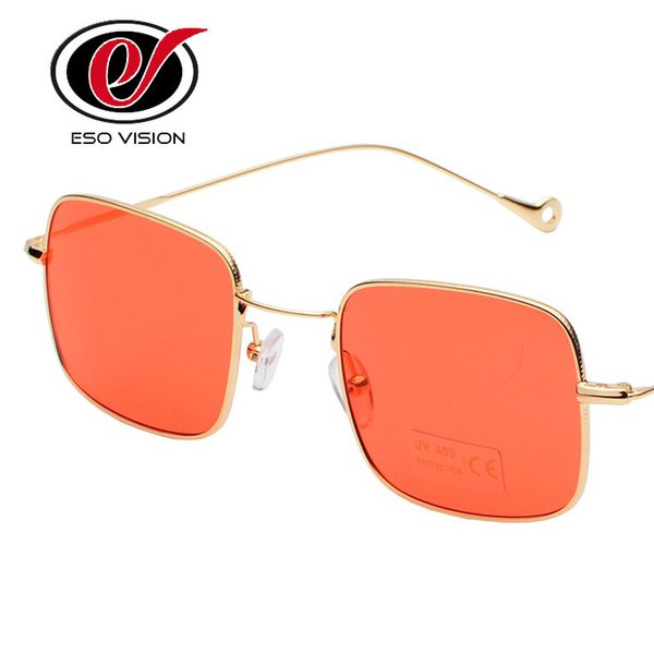 New Fashion Metal Sunglasses Red Vintage Sunglasses Wholesale Cheap Yellow Eyeglasses for Woman and Man Black Gold hot sale free shipping