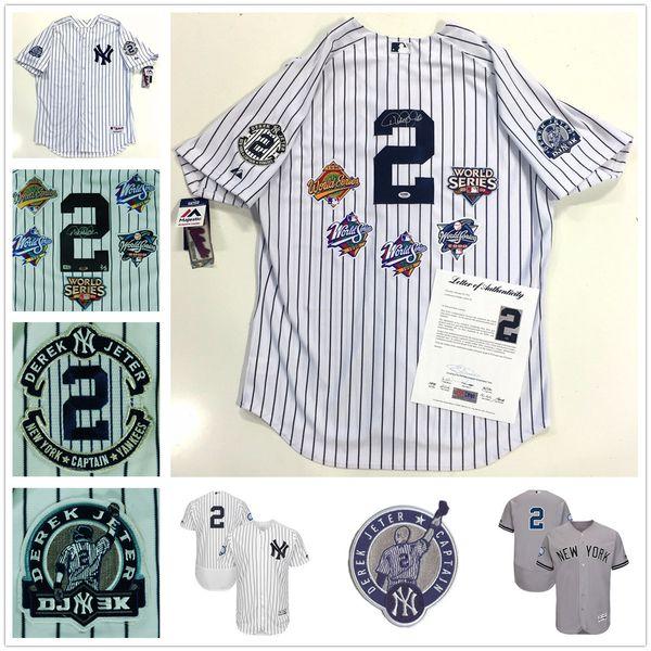 677c7f737d5 ... mens new york yankees 2 derek jeter white gray retirement patch  baseball jersey yankees 2 derek jeter white retirement patch cool base ...