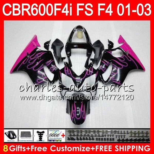 8 regalos Rosa llamas 23Colores para HONDA CBR 600F4i 01-03 CBR600FS FS 28NO74 CBR600 F4i CBR 600 F4i CBR600F4i 01 02 03 2001 2002 2003 carenado