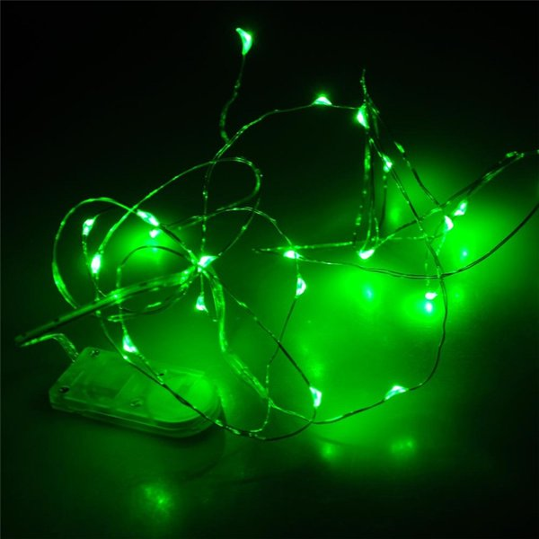 2m 20 Leds Led String Cr2032 Battery Operated Micro Mini Lighting Copper Silver Wire Starry Led ...