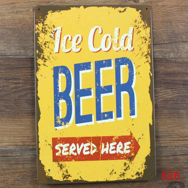 Wholesale- Free ship Vintage Metal painting tin sign about BEER WINE BAR retro wall decor bar pub cafe wall art plaque iron craft poster