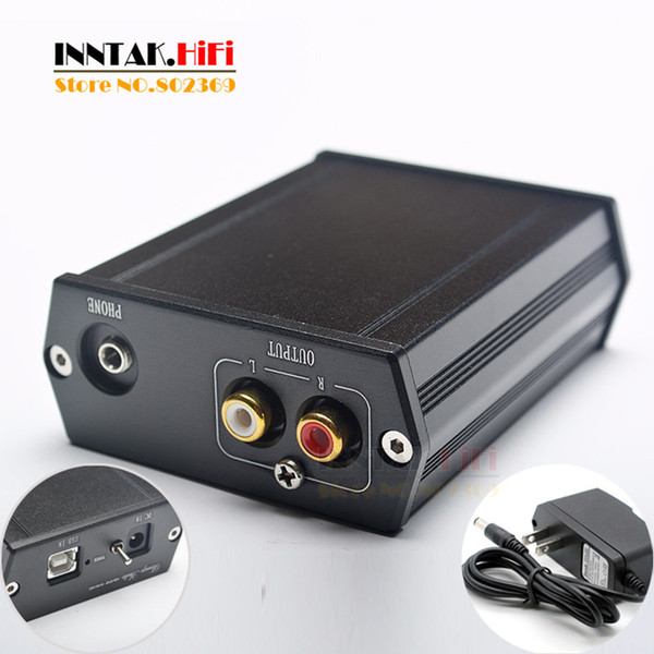 Freeshipping Best AK4490 XMOS U8 DAC asynchronous USB decoder Support headphone output with power adapter