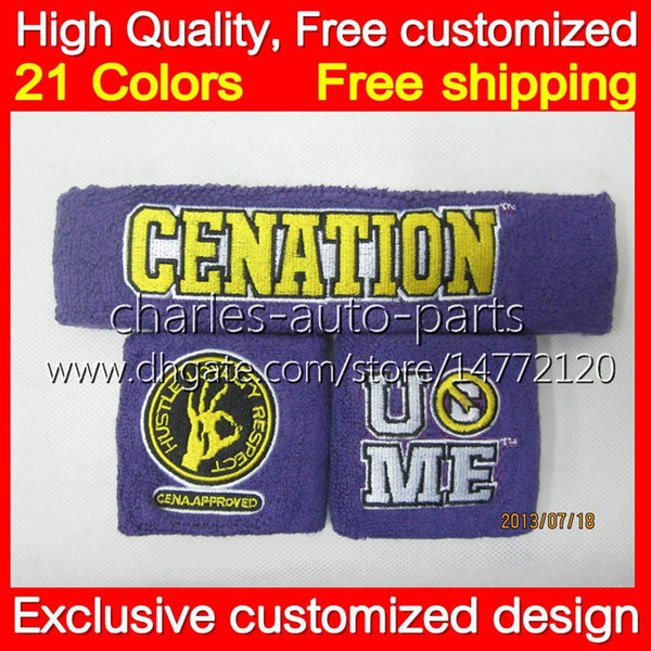 VIP HOT COOL !! 100%NEW Purple wristband John cena purple sweatbands wristbands Free shipping sweatband and free shipping