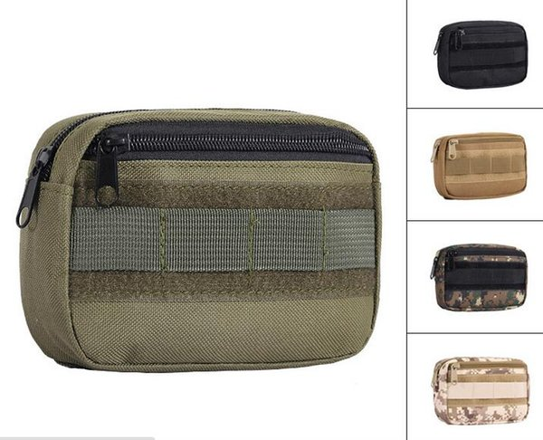Tasca porta attrezzi Tactical Pocket Organizer EDC Hunting Pack Small Army Utility Sundings Pouch