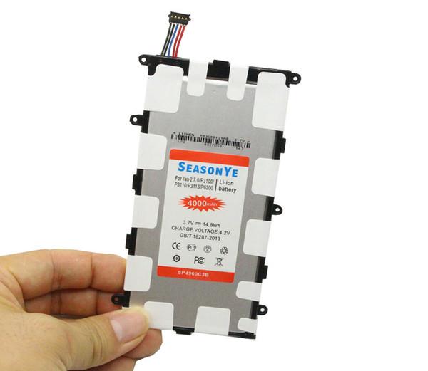 Seasonye 10pcs / lot 4000mAh / 14.8Wh SP4960C3B Ersatzakku für Samsung Galaxy Tab Tablet 2 7.0 P6200 P3100 P3110 P3113 GT-P3110