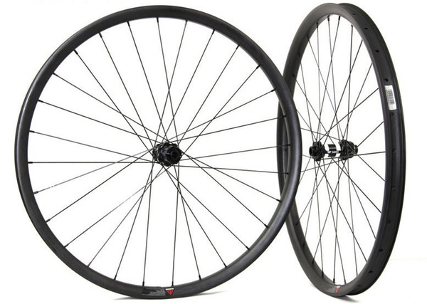29er Carbon wheelset 35mm width mountain bicycle wheels tubeless compatible with 15*100/12*142 novatec HUB