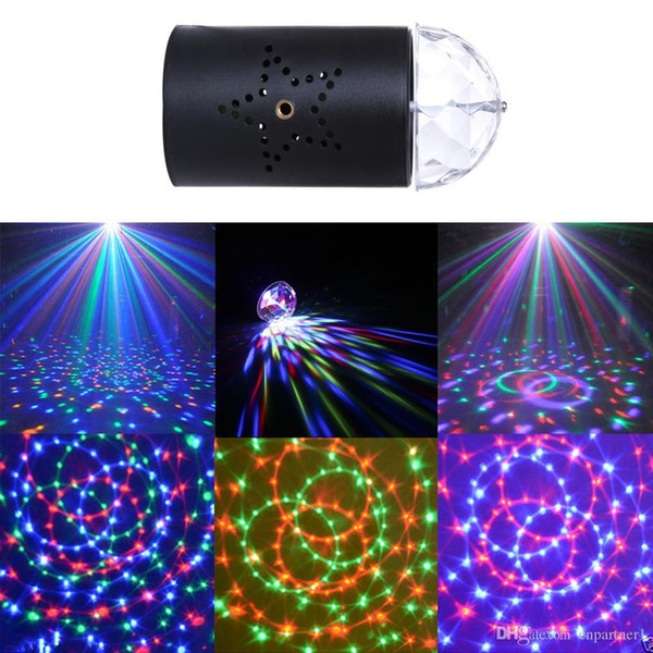 20pcs US EU 110V 220V Mini Laser Projector 3w Light Full Color LED Crystal Rotating RGB Stage Light Home Party Stage Club DJ SHOW