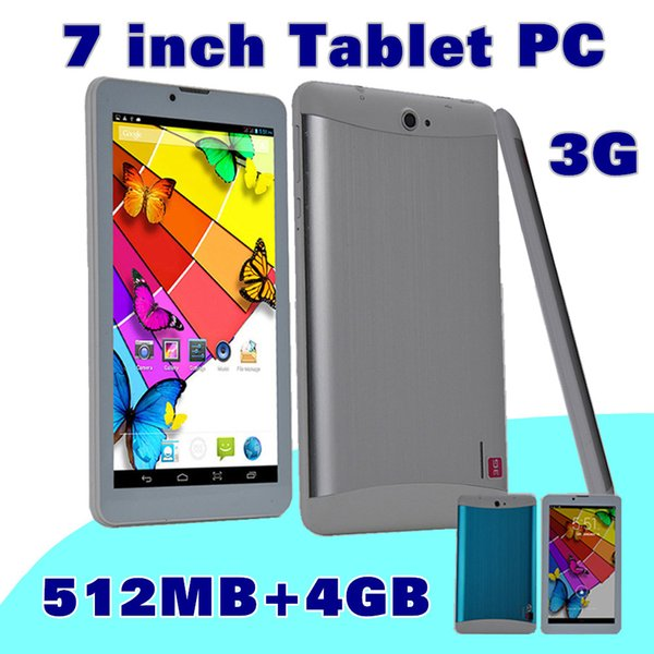 "top popular 20X DHL 7 inch 7"" 3G Phablet Android 4.4 MTK6572 Dual Core 4GB ROM 512MB RAM Dual SIM GPS Phone Call WIFI Tablet PC Bluetooth B-7PB 2019"