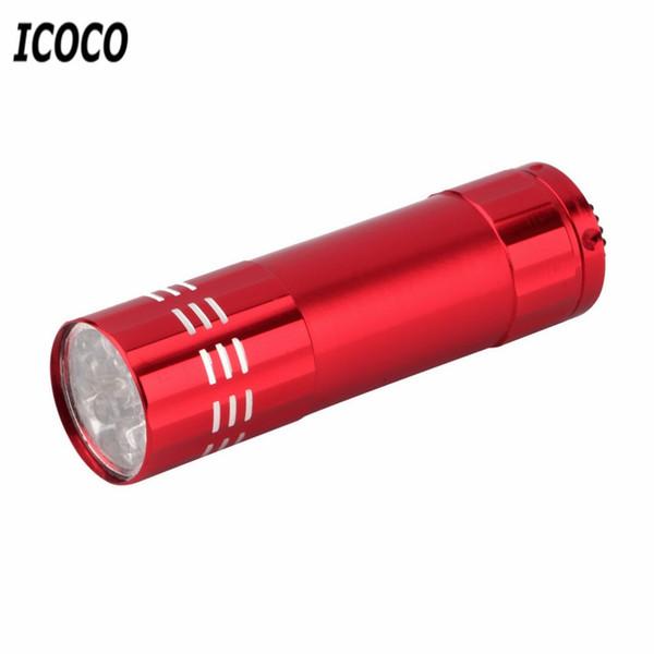 ICOCO LED UV Linternas Light Flash Torch Personalized Mini Ultra Violet Backlight Detection 4 Colors LED Flashlight