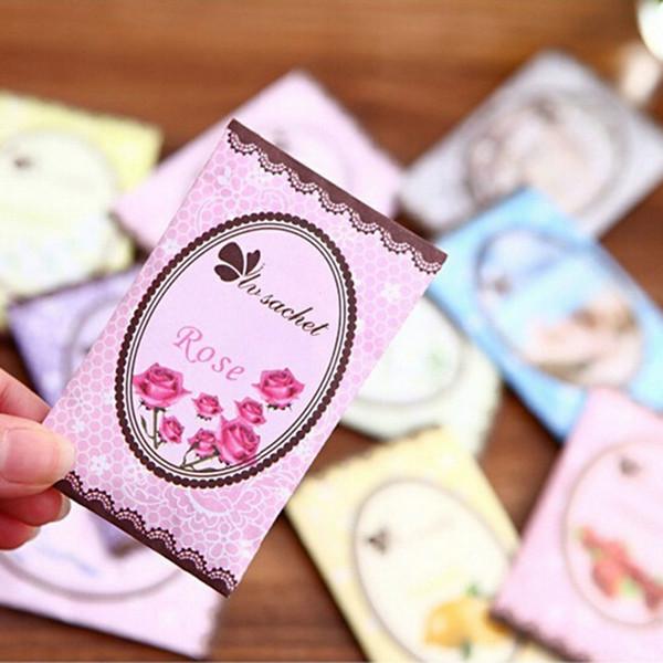 Wholesale- Scented Fragrance Home Wardrobe Drawer BedRoom Perfume Bags Deodoriser Sachet 5Pcs