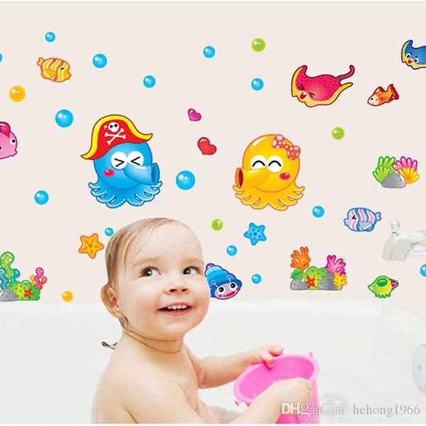 Wall Sticker Octopus Under Water World Decal Kid Room Non Toxic Wallpaper Cartoon Stickers Home Decor Stylish 3sj F R