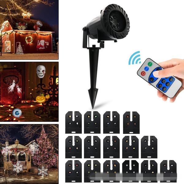 Modello a 15 film personalizzato per lampada per proiettore a led per esterni con telecomando senza fili