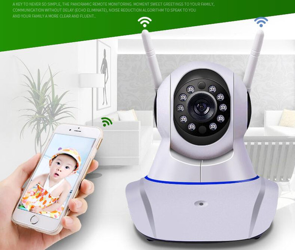 Double antenna Camera wireless IP camera WIFI Megapixel 720p HD indoor Wireless Digital Security CCTV IP Camera +64G TF memory card MOQ:1PCS
