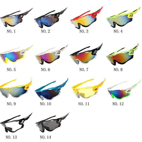 top popular New UV400 Cycling Eyewear Bike Bicycle Sports Glasses Hiking Men Motorcycle Sunglasses Drop Shipping Are Available 2019
