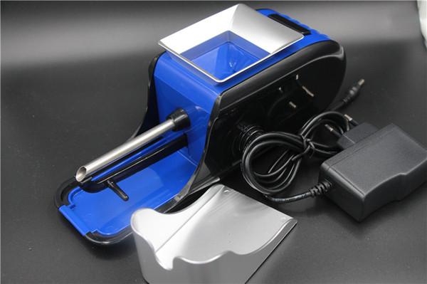 Trasporto libero Stati Uniti d'America Nuovo arrivo caldo portatile elettrico automatico della sigaretta Rolling Machine tabacco iniettore tubo di sigaretta Maker fai da te